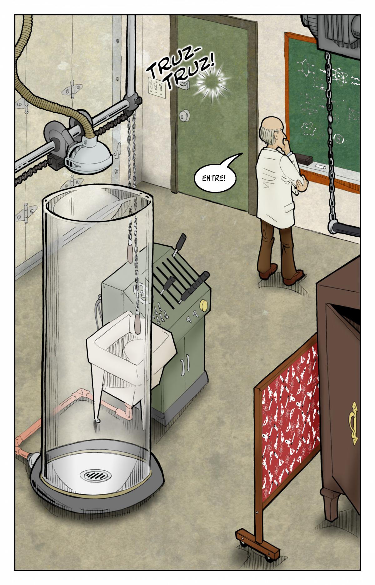 Batem à porta do laboratório!