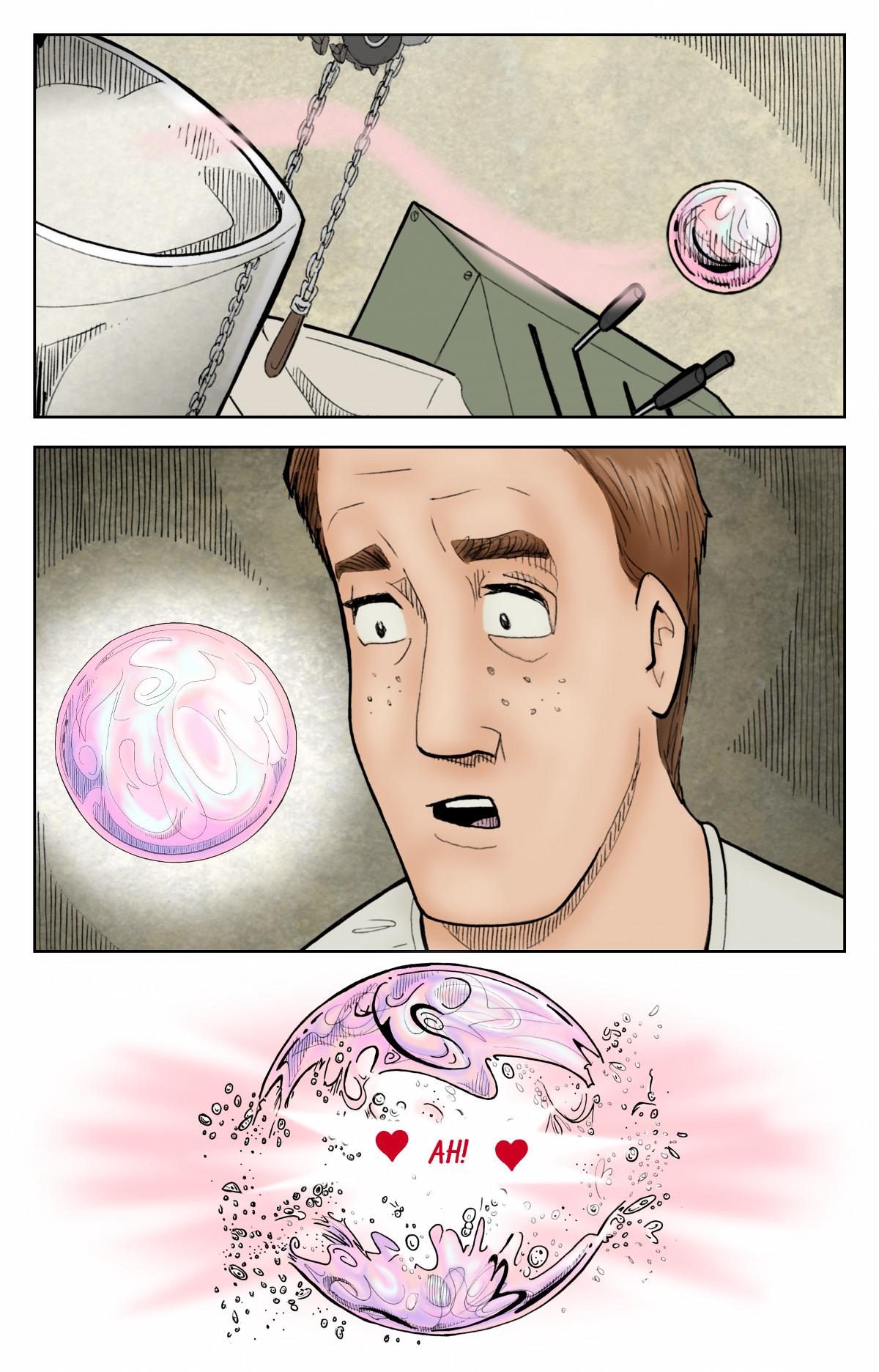 Patlayan bir baloncuk Becky Brindle'dan arda kalan son belirtidir.